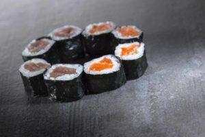 Hosomaki salmone e tonno